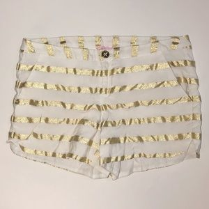 LILLY PULITZER Metallic Striped Adie Shorts